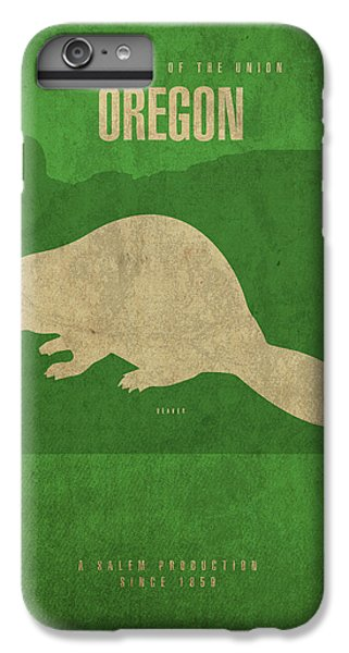 Oregon State Facts Minimalist Movie Poster Art IPhone 6 Plus Case by Design Turnpike