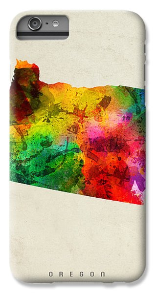 Oregon State Map 01 IPhone 6 Plus Case by Aged Pixel