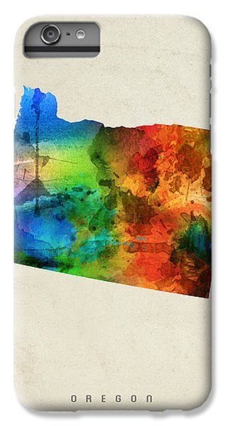 Oregon State Map 03 IPhone 6 Plus Case by Aged Pixel