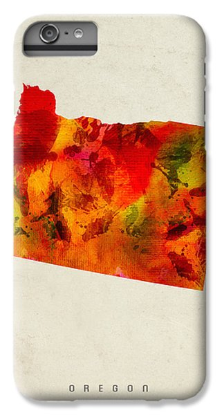 Oregon State Map 04 IPhone 6 Plus Case by Aged Pixel