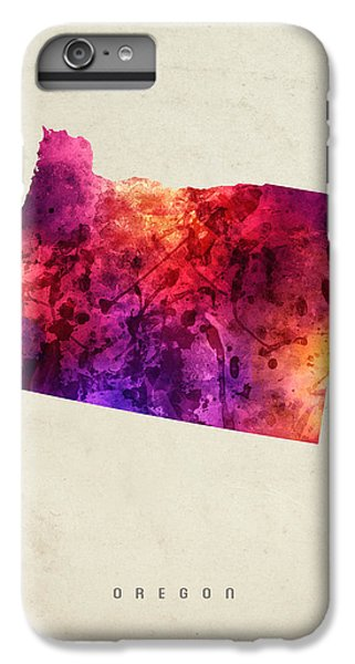 Oregon State Map 05 IPhone 6 Plus Case by Aged Pixel
