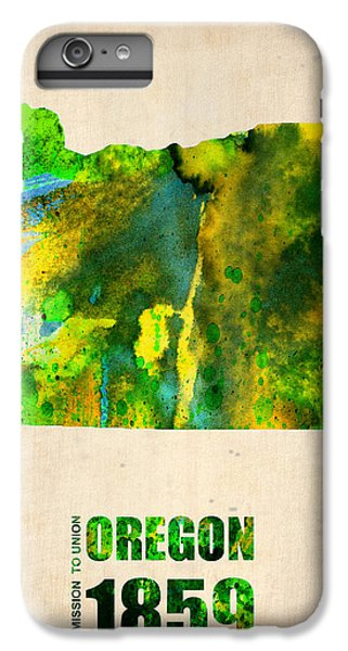 Oregon Watercolor Map IPhone 6 Plus Case by Naxart Studio