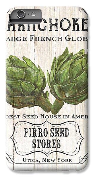 Artichoke iPhone 6 Plus Case - Organic Seed Packets 1 by Debbie DeWitt