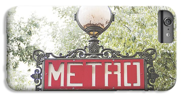 Transportation iPhone 6 Plus Case - Ornate Paris Metro Sign by Ivy Ho