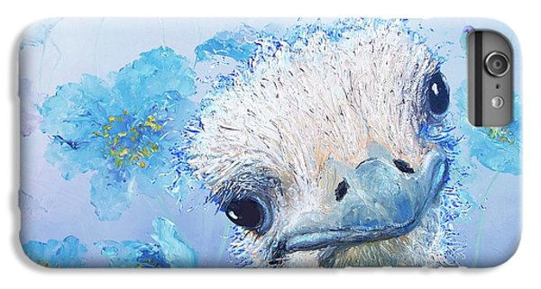 Ostrich In A Field Of Poppies IPhone 6 Plus Case by Jan Matson