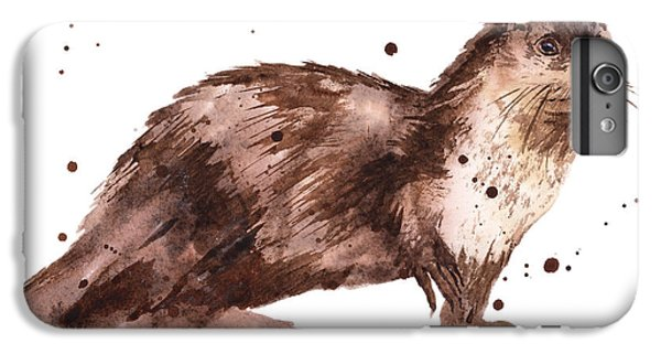 Otter Painting IPhone 6 Plus Case by Alison Fennell