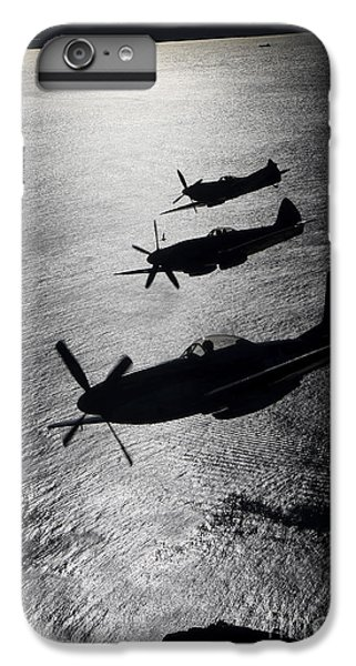 Airplane iPhone 6 Plus Case - P-51 Cavalier Mustang With Supermarine by Daniel Karlsson