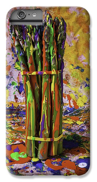 Painted Asparagus IPhone 6 Plus Case by Garry Gay