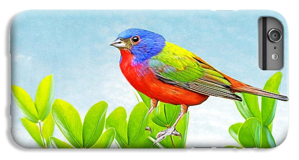 Bunting iPhone 6 Plus Case - Painted Bunting by Laura D Young