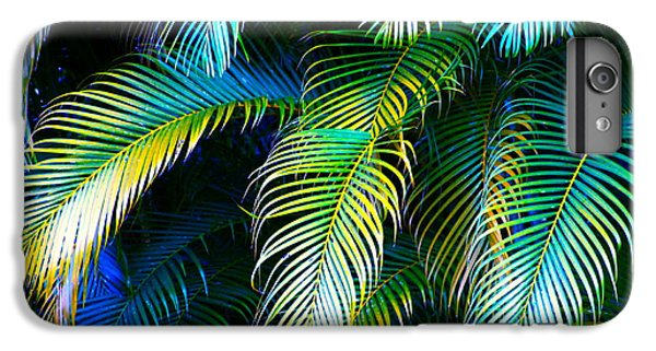Palm Leaves In Blue IPhone 6 Plus Case