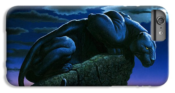 Panther On Rock IPhone 6 Plus Case by MGL Studio - Chris Hiett