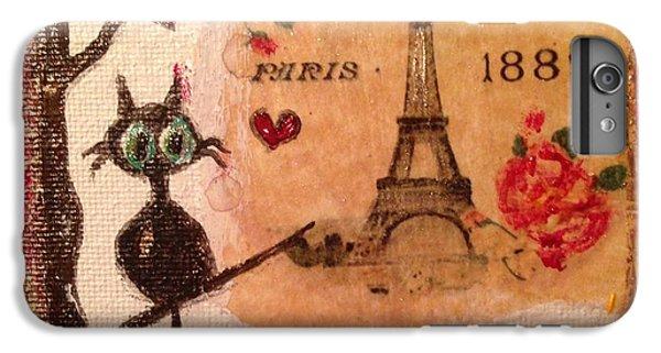 Paris Cat  IPhone 6 Plus Case by Roxy Rich