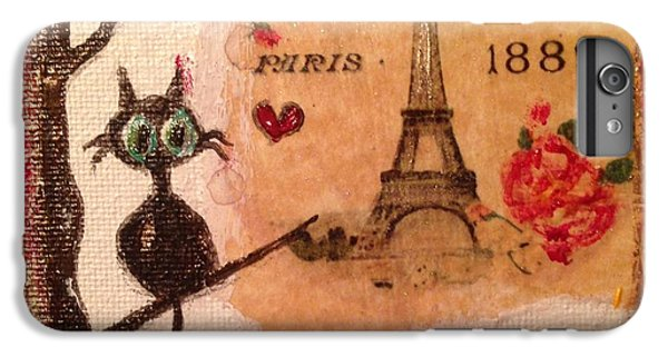 Paris Cat  IPhone 6 Plus Case by Roxy Rich