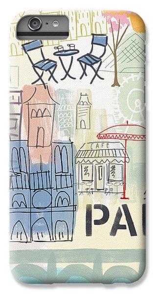 Paris Cityscape- Art By Linda Woods IPhone 6 Plus Case by Linda Woods
