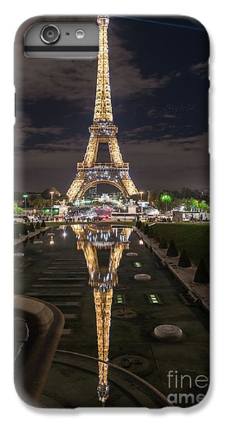 Paris Eiffel Tower Dazzling At Night IPhone 6 Plus Case by Mike Reid