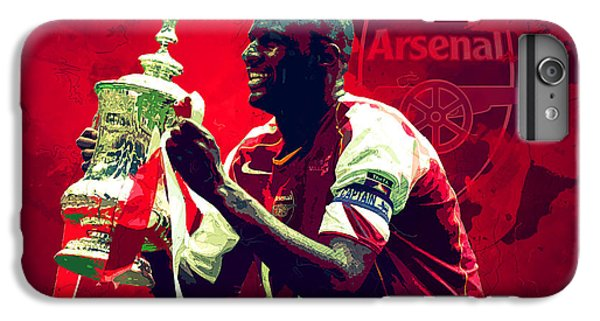 Patrick Vieira IPhone 6 Plus Case by Semih Yurdabak