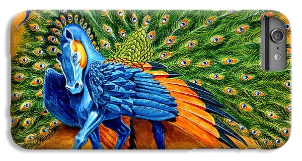 Pegasus iPhone 6 Plus Case - Peacock Pegasus by Melissa A Benson