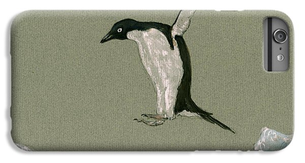 Penguin iPhone 6 Plus Case - Penguin Jumping by Juan  Bosco