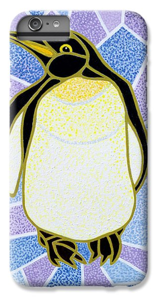 Penguin On Stained Glass IPhone 6 Plus Case by Pat Scott