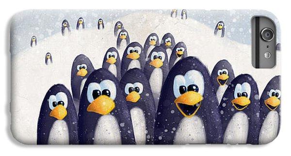 Penguin Winter IPhone 6 Plus Case by David Breeding