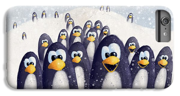 Penguin Winter IPhone 6 Plus Case by David Breeding