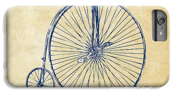 Bicycle iPhone 6 Plus Case - Penny-farthing 1867 High Wheeler Bicycle Vintage by Nikki Marie Smith