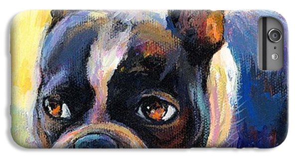 Pensive Boston Terrier Painting By IPhone 6 Plus Case