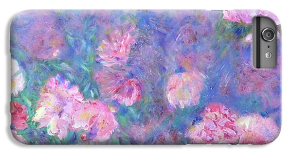 IPhone 6 Plus Case featuring the painting Peonies by Claire Bull