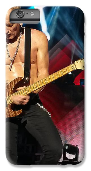 Phil Collen Of Def Leppard 2 IPhone 6 Plus Case by David Patterson