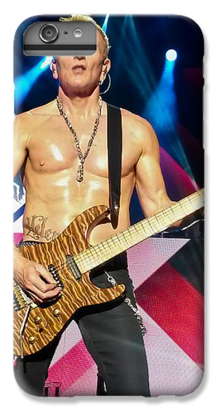 Phil Collen Of Def Leppard 5 IPhone 6 Plus Case by David Patterson