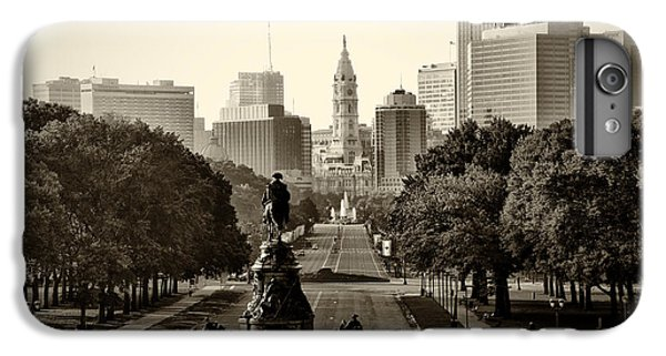 Philadelphia Benjamin Franklin Parkway In Sepia IPhone 6 Plus Case by Bill Cannon