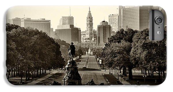 Philadelphia Benjamin Franklin Parkway In Sepia IPhone 6 Plus Case by Bill Cannon