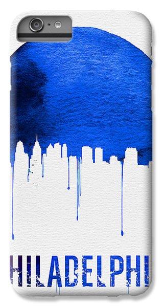Philadelphia Skyline Blue IPhone 6 Plus Case by Naxart Studio