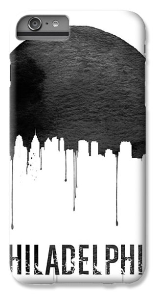 Philadelphia Skyline White IPhone 6 Plus Case by Naxart Studio
