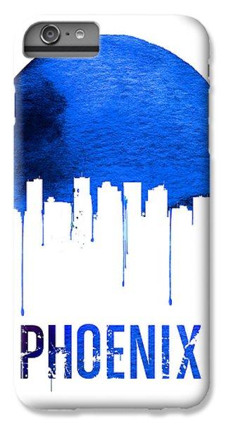 Phoenix iPhone 6 Plus Case - Phoenix Skyline Blue by Naxart Studio