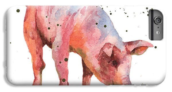 Pig Painting IPhone 6 Plus Case by Alison Fennell