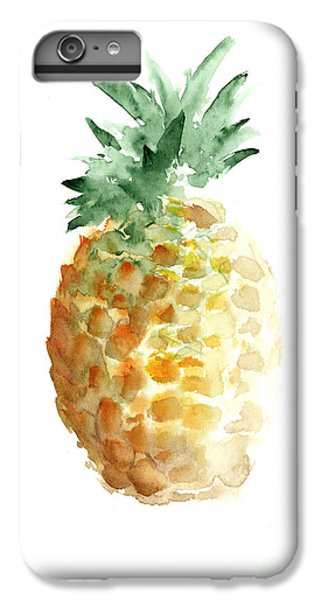 Pineapple Watercolor Minimalist Painting IPhone 6 Plus Case