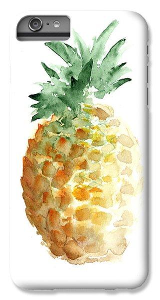 Pineapple Watercolor Minimalist Painting IPhone 6 Plus Case by Joanna Szmerdt