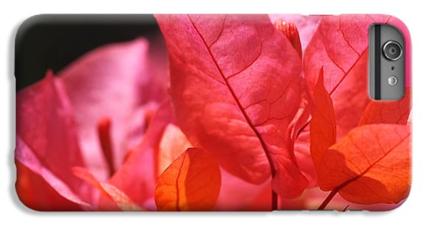 Bright iPhone 6 Plus Case - Pink And Orange Bougainvillea by Rona Black