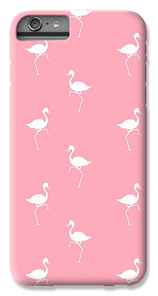 Pink Flamingos Pattern IPhone 6 Plus Case by Christina Rollo