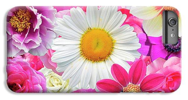 Pink Flowers  IPhone 6 Plus Case by Gloria Sanchez
