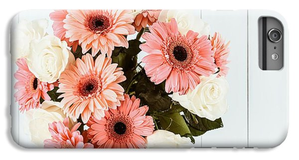 Pink Gerbera Daisy Flowers And White Roses Bouquet IPhone 6 Plus Case