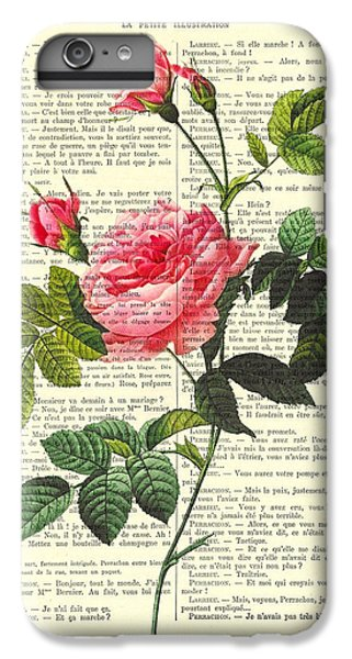 Floral iPhone 6 Plus Case - Pink Roses, Valentines Gift by Madame Memento