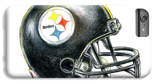 Football iPhone 6 Plus Case - Pittsburgh Steelers Helmet by James Sayer