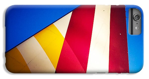 Plane Abstract Red Yellow Blue IPhone 6 Plus Case