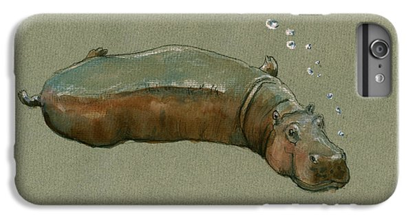 Playing Hippo IPhone 6 Plus Case by Juan  Bosco