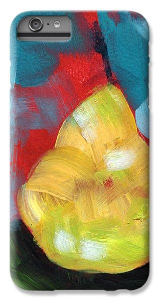 Pear iPhone 6 Plus Case - Plump Pear- Art By Linda Woods by Linda Woods