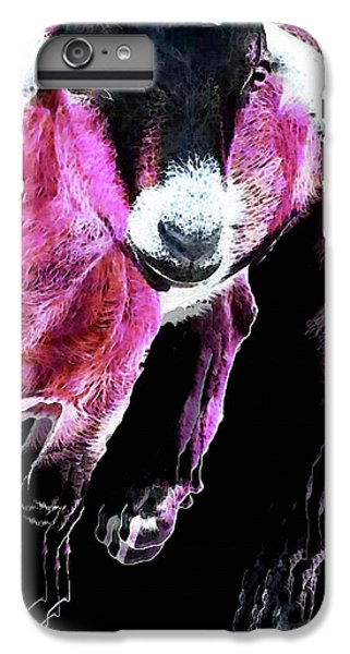 Pop Art Goat - Pink - Sharon Cummings IPhone 6 Plus Case by Sharon Cummings