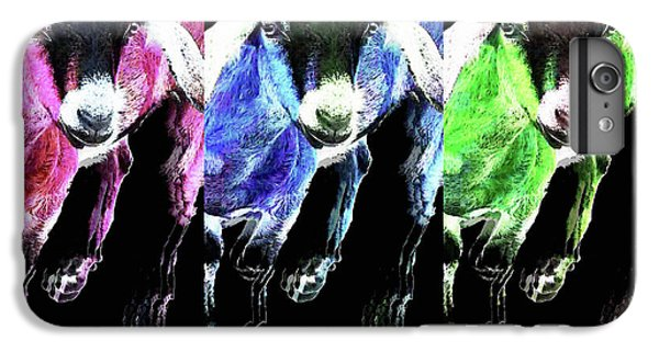 Pop Art Goats Trio - Sharon Cummings IPhone 6 Plus Case by Sharon Cummings