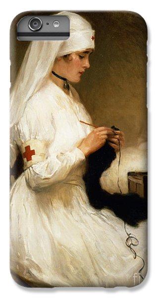 Nurse Shark iPhone 6 Plus Case - Portrait Of A Nurse From The Red Cross by Gabriel Emile Niscolet